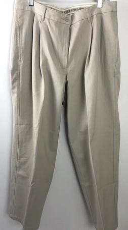Calvin Klein Men Dress Pants Sz 34 X 30 Pleated Khaki Career