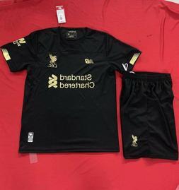 Men's 2019-2020 Liverpool Black Goalkeeper Home Uniform,Jers