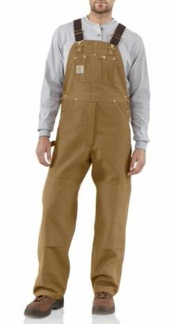 Carhartt Men's Duck Bib Overall Unlined R01,  38X30