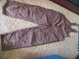 Carhartt Men's Quilt Lined Sandstone Bib Overall 48X34 Brown