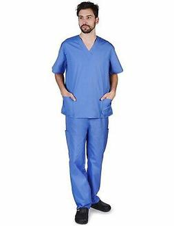 Natural Uniforms Men's Scrub Set Medical Scrub Top and Pants