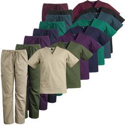 Medgear Men's Stretch 12-pocket Utility Unisex Scrub Set XS-