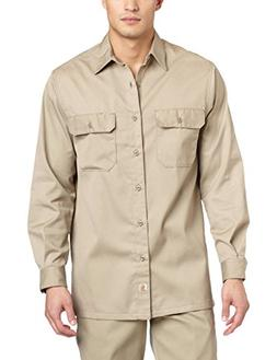 Carhartt Men's Twill Long Sleeve Work Shirt Button Front,Kha