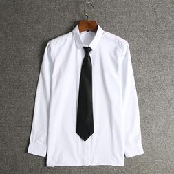 Men White Cotton Shirt School Jk <font><b>Uniform</b></font>