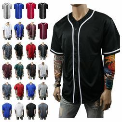 Men Baseball Jersey Team T-Shirt Uniform Sports Raglan Fashi