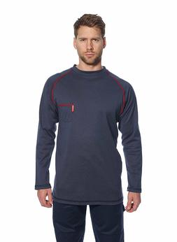 Mens FR01 & FR02 Flame Resistant Long Sleeved Crew & Button-