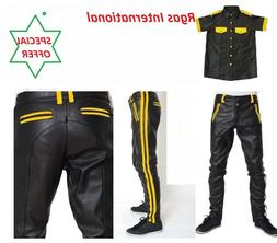 Mens Hot Stylish Police Uniform Pant,T Shirt Set BLUF Gay Ge