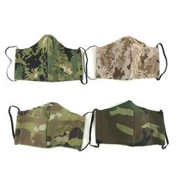 Military Cloth Face Mask, US Army Navy Camo Uniform, Reusabl