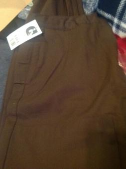 Nash By Landau Mens Brown Size 36 Uniform Pants, Un Hemmed,