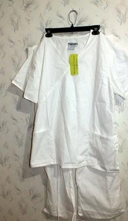 NATURAL UNIFORMS Natural Comfort Unisex SCRUB SET Sz 2X New