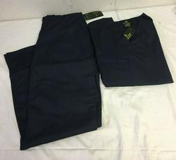 Natural Uniforms Navy Blue Scrub Set Medium