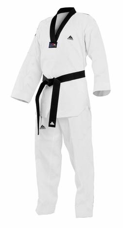 New adidas ADI-STAR Taekwondo Uniform Set w/ BLACK V-Neck si