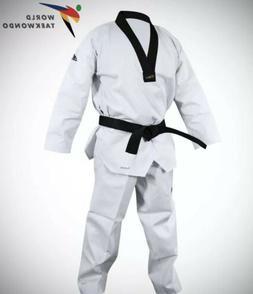 New Adidas Adichamp III Taekwondo uniform White With Black V