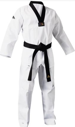 New Adidas Adichamp III Taekwondo uniform White With Black V