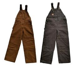 New Carhartt Bib Overalls Sandstone Duck Unlined Men's $100