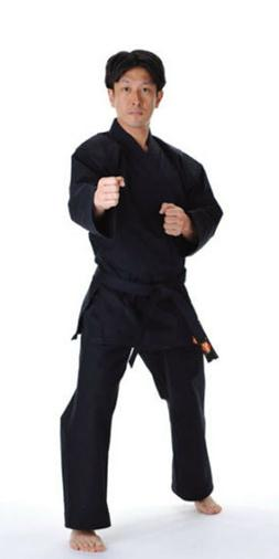 KANKU NEW Black Karate Uniform, Gi 7.5 oz Adult Kids w/White