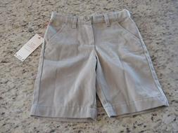 NEW Cat & Jack Girls Khaki School Uniform Shorts Tan Size 12