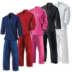KANKU New Karate Uniform, Gi for Adult and Kids, black, whit