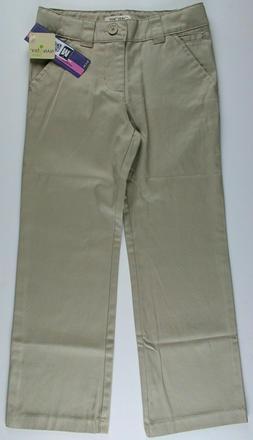 New Kids Girls School Uniform Pants Chinos Khakis NWT for Si