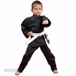 NEW Proforce Lightweight Karate Uniform Gi BLACK with White