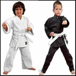NEW Proforce Lightweight Karate Uniform Gi White Black w/ Wh