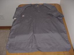 NEW MEDIUM MEN'S C15308 GRAY CARHARTT RIPSTOP MEDICAL NURSE