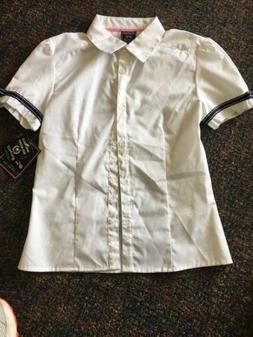 NEW FRENCH TOAST SCHOOL GIRL'S SIZE 10 / 12 WHITE BLOUSE UN