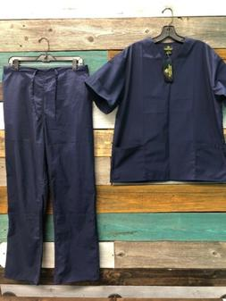 NEW Natural uniforms scrub set Size Small True Navy Blue
