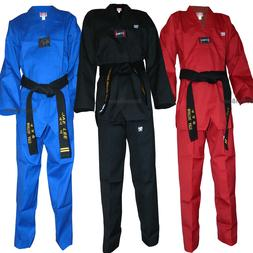 New Taekwondo Color Uniform set Corduroy V-Neck TKD Dobok Se