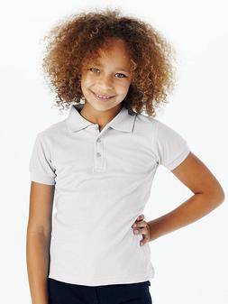 New White Girls Polo Shirt Short Sleeve School Uniform Sizes