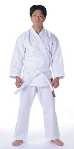 KANKU NEW White Karate Uniform, Gi 7.5 oz Adult Kids w/White