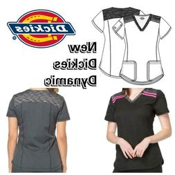 New Women's V-Neck Dickies Dynamix DK740 Top Medical Uniform