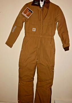 NEW CARHARTT X02 BRN Men 34R Brown Arctic-Quilt Lined Duck C