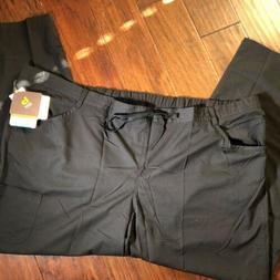 NRG By Barco Uniform Pants 5XL NWT Black 4 Pocket Tie Front