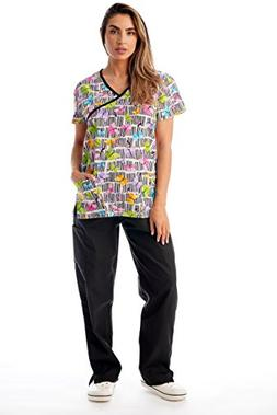 34beff23cfa Just Love Nursing Scrubs Set for Women Print Scrubs 1311WJ-2