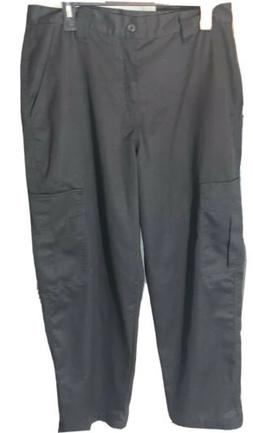 NWOT Women BARCO® Cotton Career Trousers Black Uniform Pant