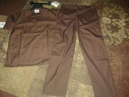 NWT Adar Universal Medical Scrubs Set Medical Uniforms Brown