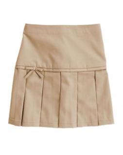 NWT Gymboree Girls Khaki School Uniform Skirt with Bow 6 10