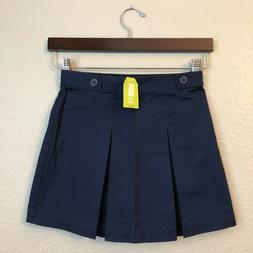 NWT Crazy 8 Girls Navy Blue School Uniform Elastic Waist Ski