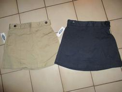 NWT Old Navy Girls Uniform Skorts SKIRT / SHORTS Khaki Tan N