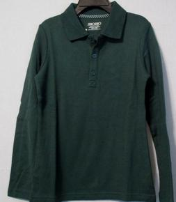 NWT Cherokee Long Sleeve Collar Girls School Uniform Polo Sh