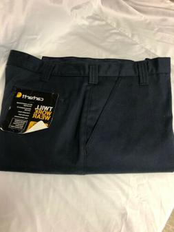 NWT Carhartt Mens 40X30 Twill Work Wear Pants Navy Blue Cons