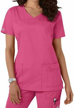 NWT NEW Cherokee Workwear Uniform Scrub Top Premium Core STR