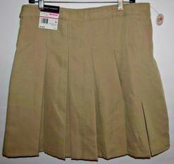 NWT-French Toast Size 20 Khaki Pleat Skirt Shorts with Belt