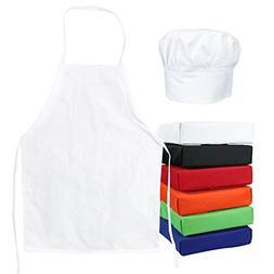 ObviousChef Kids -Child's Chef Hat Apron Set, Kids Size, C
