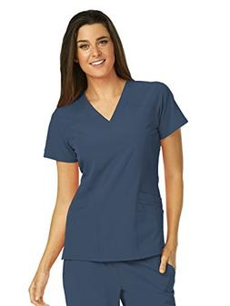 Barco One 5106 V-Neck Top Steel L
