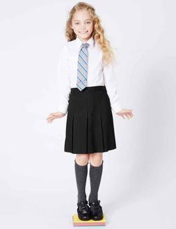 Plaid School Uniform Pleated Knee Length Skirt Girls Juniors