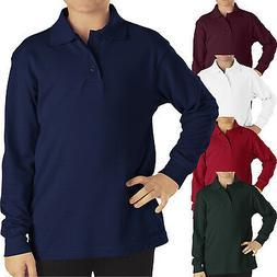 Dickies polo Shirts Boys long sleeve PIQUE Top Kids School U