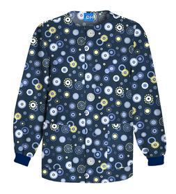Cherokee Workwear SnapFront Warm-Up Jacket 4350C DWON Dot's