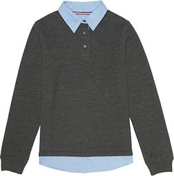 French Toast School Uniform Boys Flatback Rib Knit 2-Fer Swe